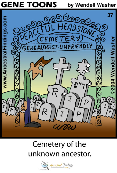 Cemetery of the Unknown Ancestor (Genetoons #37)