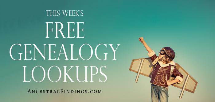 This Week's Free Genealogy Lookups (2015-12-27)