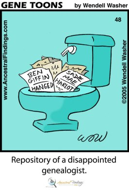 Repository of a Disappointed Genealogist