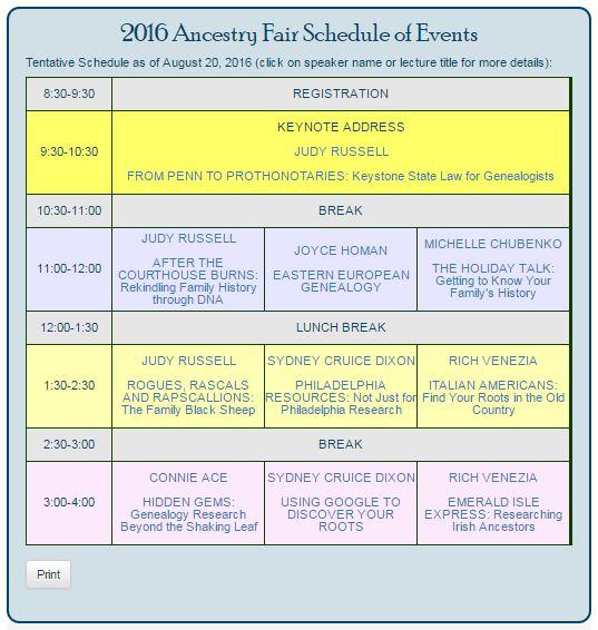 schedule pic