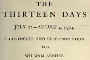 thirteen days at the start of wold war I
