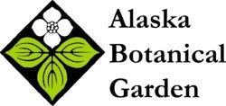 Alaska Botanical Garden flower and name in logo design