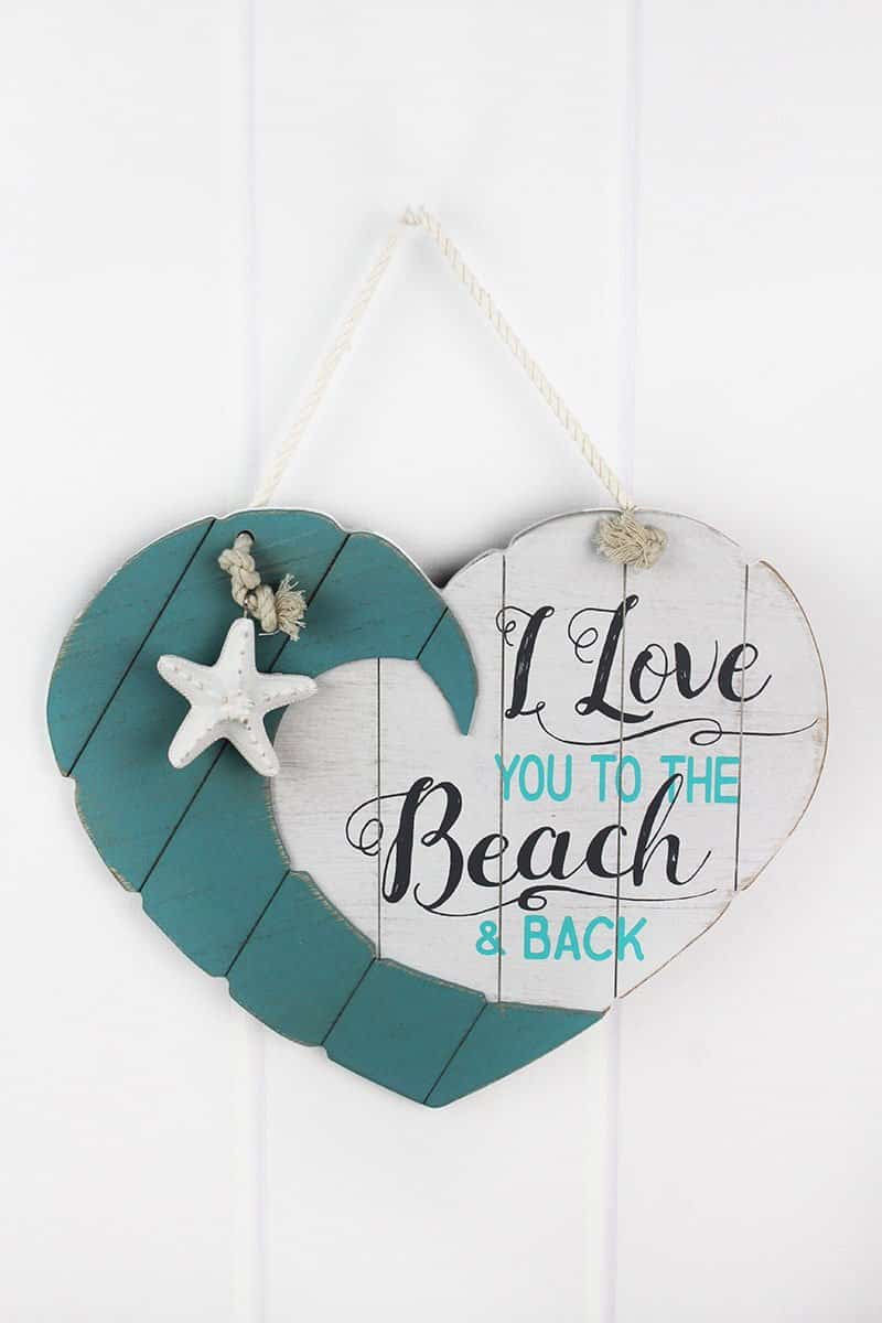 """Download I Love You To The Beach And Back 13.5"""" X 16"""" Wood Heart ..."""