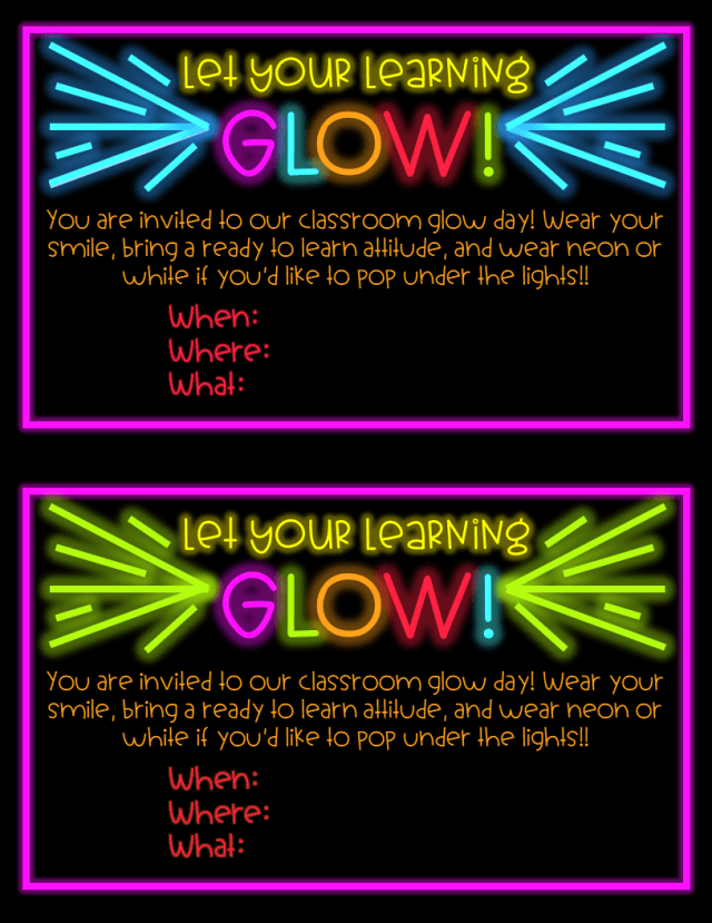 Glow Day Invitation Sample