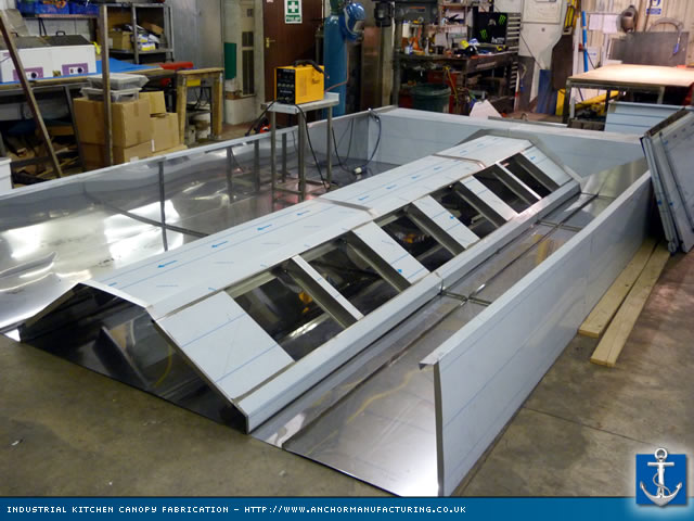 fabrication of industrial kitchen canopy