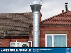 External air extraction ducting and silencer.