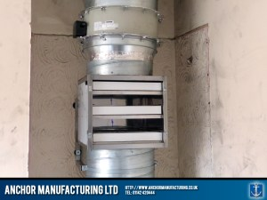 A fitted ducting filtration box.