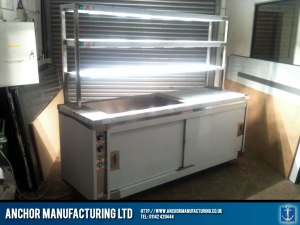 Hot cupboard with pass through and heated gantry.