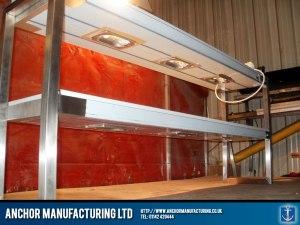 Two tiered heated gantry.