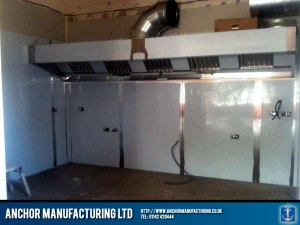 Kitchen canopy extraction ducting.
