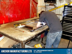 Hand made kitchen canopy fabrication.