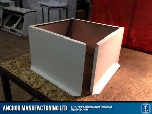 Air input ventilation box.