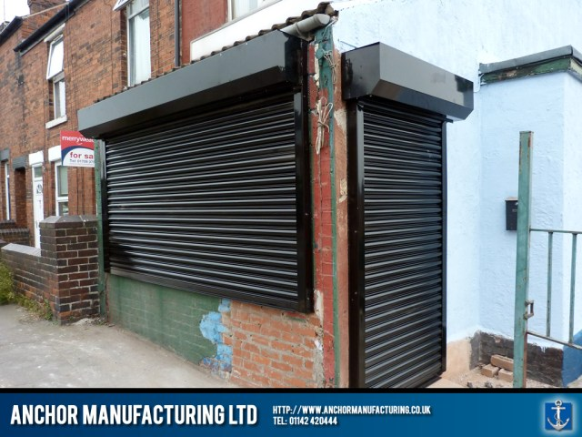 Our shop fitters install motorised roller shutters.
