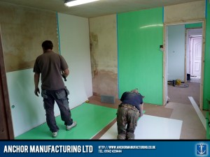 Our shop fitting service includes wall cladding installation.