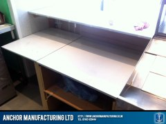 Pre-fabricated wooden counter frame.