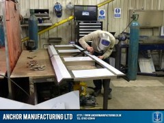 Kitchen canopy frame welding.