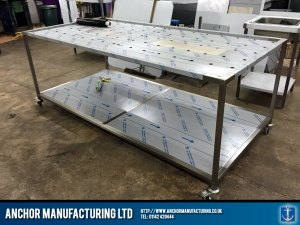 custom made morgue table