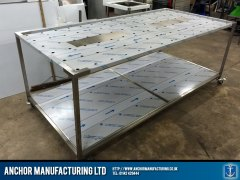 Large custom mortuary table