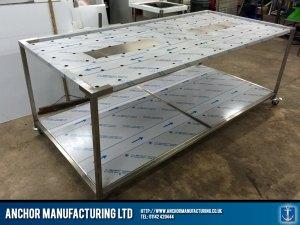 Large custom mortuary table