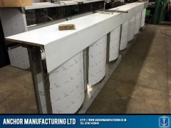 Steel Chip shop counter final fabrication