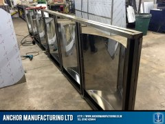 Steel Chip shop counter fabrication