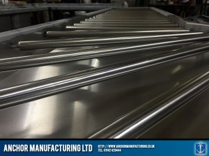 Detailed stainless steel roller system