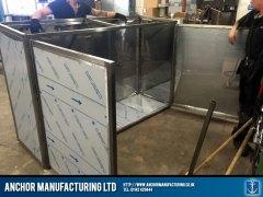 Sheffield stainless steel storage inside open doors
