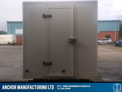 Butchers van fabricated door fridge