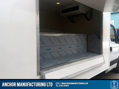 Open butchers van fabrication display