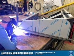 Kitchen Canopy Steel LED Boxes work weld