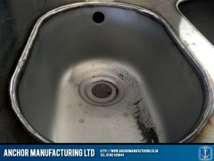 Stainless steel sink fabrication sink weld detail