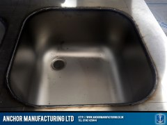 Stainless steel sink fabrication sink weld