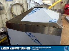 Tapered steel fermenter bottom welded