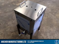 steel fermenter with lid