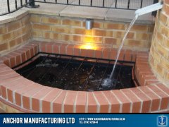 steel water pond feature