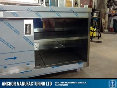 stainless steel hot cupboard large sliding doors 2