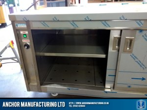 stainless steel hot cupboard large sliding doors