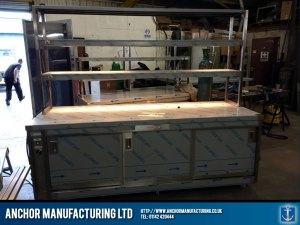 stainless steel hot cupboard large