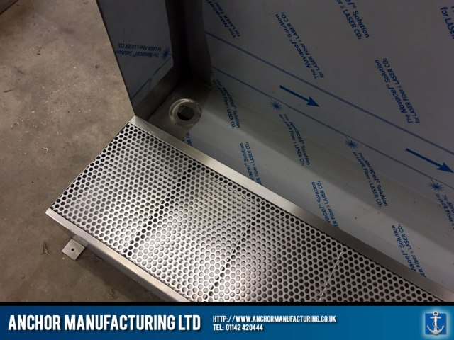 Stainless Steel Urinal with perforations