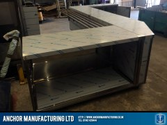 stainless steel shop counter storage