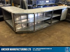 stainless steel shop counter fabrication