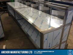 fish and chip shop counter build