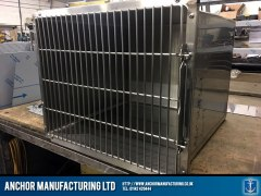 animal transport kennel stainless steel fabrication