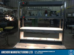 Heated Gantry Burger Chute Combo lighting