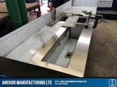 stainless steel sink kitchen work surface
