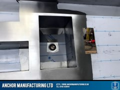 stainless steel top kitchen worktop detail