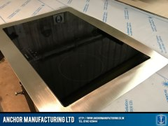stainless steel kitchen worktop induction hob