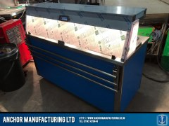 Contemporary hot cupboard buffet equipment lighting