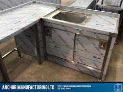 Domestic Stainless Steel Sink cupboard doors