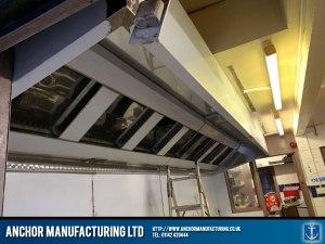 Stainless Steel Kitchen Extraction Canopy Installation Indus Restaurant